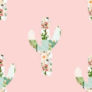 "8"" Patchwork Cactus / PINK"