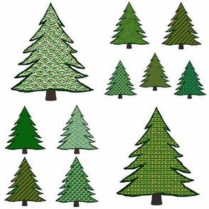 All the pretty Christmas trees
