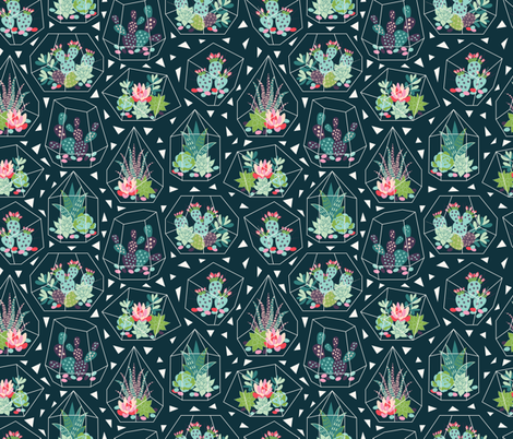 glass terrariums_1 fabric by solnca_lych on Spoonflower - custom fabric