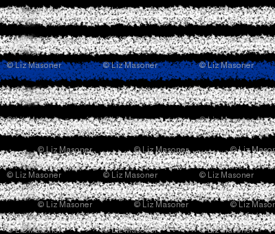 Thin Blue Line Distressed Stripes