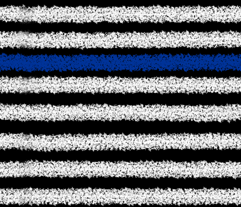 Thin Blue Line Distressed Stripes fabric by themadcraftduckie on Spoonflower - custom fabric