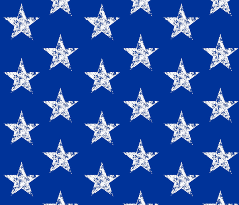 Large Back the Blue Stars fabric by themadcraftduckie on Spoonflower - custom fabric