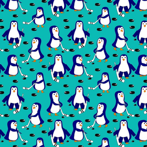 penguin hockey blue