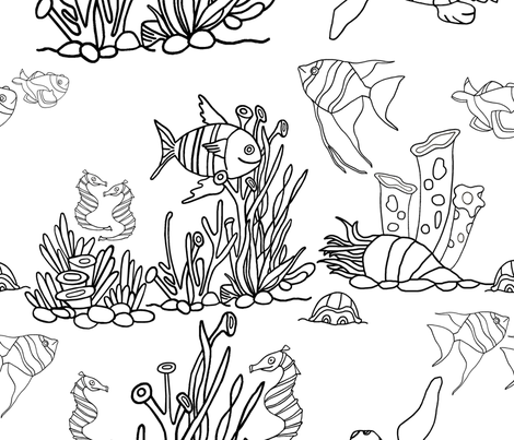 underthesea1 fabric by kslloyd on Spoonflower - custom fabric