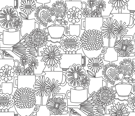 Cup of Flowers fabric by mag-o on Spoonflower - custom fabric