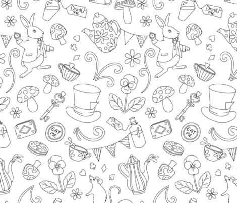 Wonderland fabric by tracey_knight on Spoonflower - custom fabric