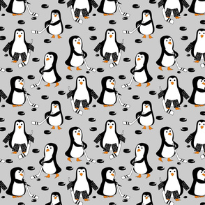 penguin hockey black and gray
