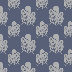 Black Octopus on Gray