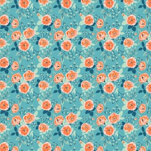 pattern with the roses in vintage style