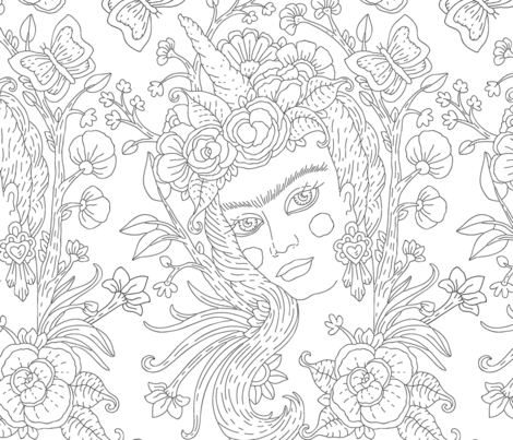 Magical Creature fabric by dinorahaleatelier on Spoonflower - custom fabric