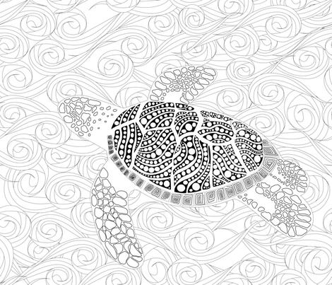 Saving Ocean fabric by stargazingseamstress on Spoonflower - custom fabric