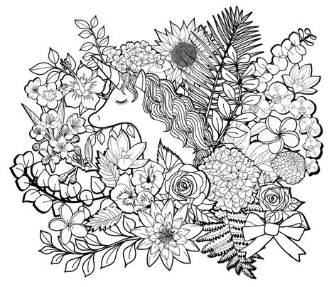 Unicorn Garden fabric by irishvikingdesigns on Spoonflower - custom fabric