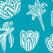 Retro Polynesian Tribal Geometric Floral Graphic Tattoo