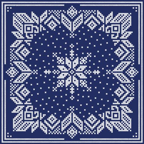Snoflinga in ink fabric by lilyoake on Spoonflower - custom fabric