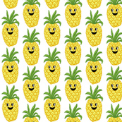 Pineapple cute  kids Kawaii Greenery Topsy Turvy Summer Fruit-ed-ed