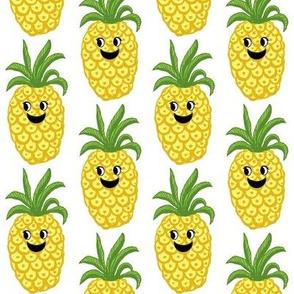 Pineapple // kawaii fruit //  cute //  kids// Greenery // Fruit