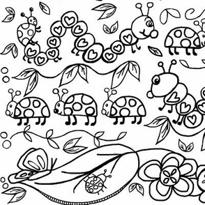 Ladybird March -Coloring  black/white