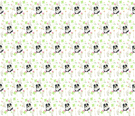Border Collie Summer Meadow fabric by aenne on Spoonflower - custom fabric