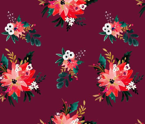 Rvintage_christmas_floral_maroon_shop_preview