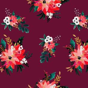 vintage_christmas_floral_maroon