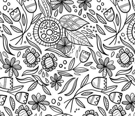 In Bloom fabric by abbyhersey on Spoonflower - custom fabric