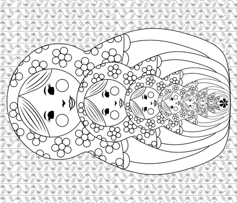 Matryoshka fabric by rstroop on Spoonflower - custom fabric