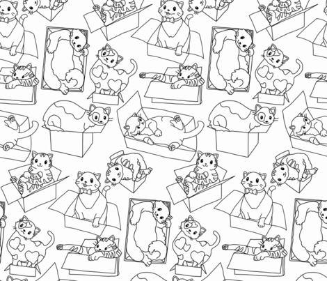 If I Fits I Sits fabric by sunnytime on Spoonflower - custom fabric