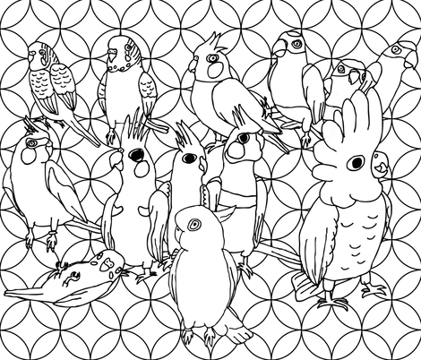 You Can Haz All The Birbs! fabric by owlandchickadee on Spoonflower - custom fabric