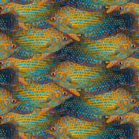 shortnose wrasse cluster fabric by kolekine on Spoonflower - custom fabric