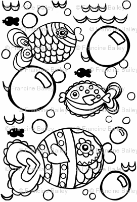 Swish Tail & Bubbles Coloring