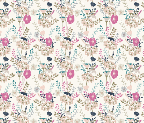 Floralia 12 fabric by sharonelliott on Spoonflower - custom fabric