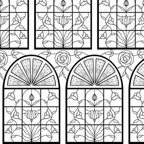 Stained Glass Window B&W