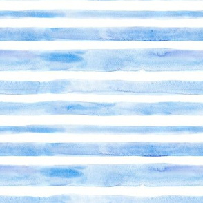 Hand painted watercolor blue stripes