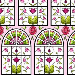 Stained Glass Garden in Pink