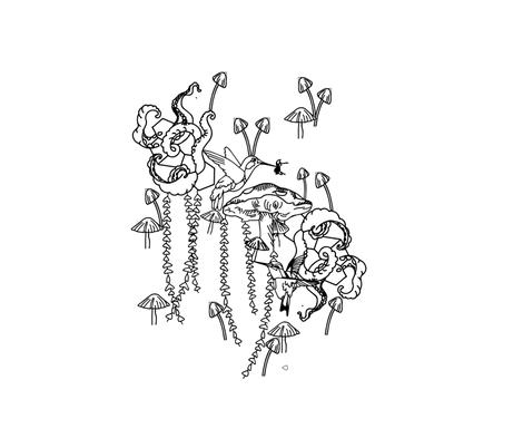 DREAM lab fabric by kanojo_design on Spoonflower - custom fabric