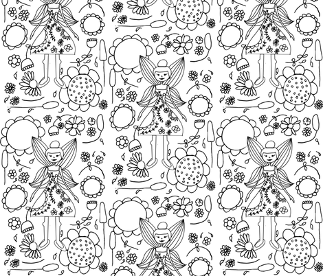 color_book_fairy fabric by bruxamagica on Spoonflower - custom fabric