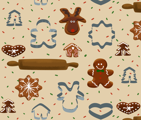 ginger_bread fabric by mariabonner on Spoonflower - custom fabric