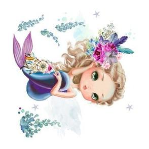 "8"" Mix & Match / Lilac Mermaid / 90 degrees"