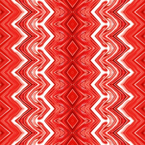 Fire Engine Red Rickrack Stripes fabric by maryyx on Spoonflower - custom fabric