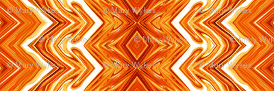 Orange and White Rickrack Pinstripes