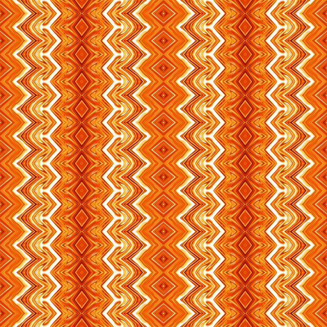 Orange and White Rickrack Pinstripes fabric by maryyx on Spoonflower - custom fabric