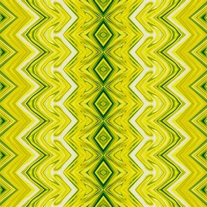 Yellow and Green Rickrack Stripes