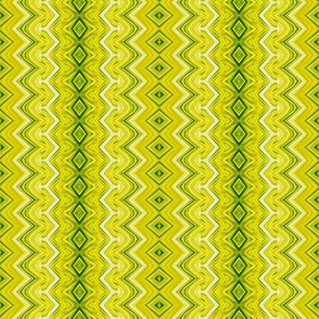 Yellow-green Rickrack Pinstripes