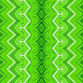 Lime Green Rickrack Stripes