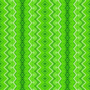 Lime Green Rickrack Pinstripes