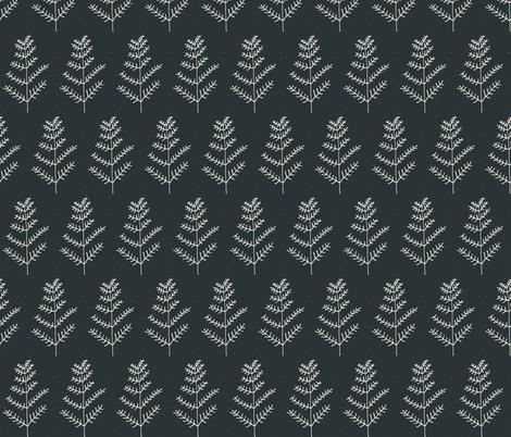 Minimalist trees fabric by mesh_and_cloth on Spoonflower - custom fabric