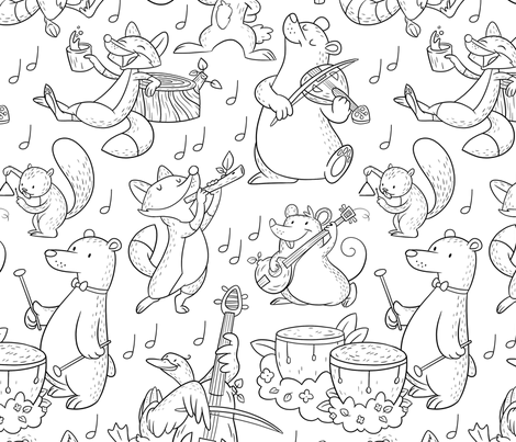 Woodland Ensemble fabric by hollybender on Spoonflower - custom fabric