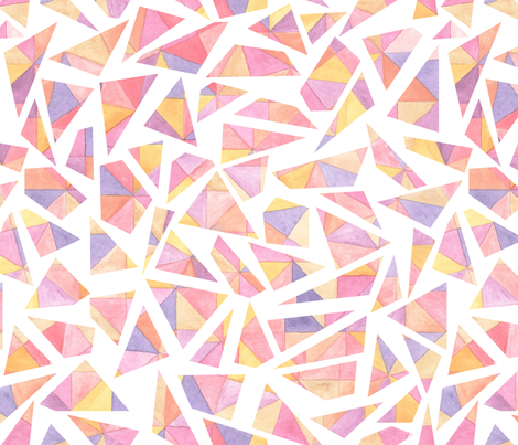 Fragmented Sunrise fabric by artfully_minded on Spoonflower - custom fabric