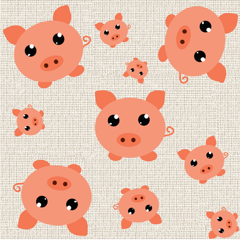 Cute Little Piggies fabric by arwen_and_moose on Spoonflower - custom fabric