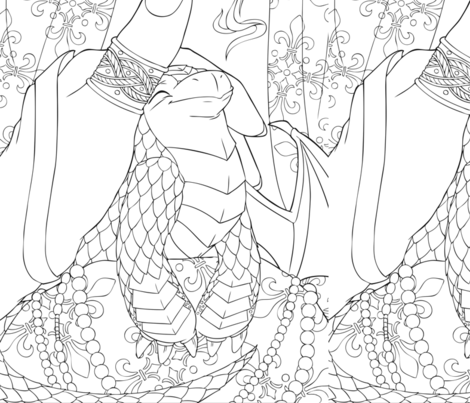 Spoonflower_Contest_SJLewis fabric by samanthajeanillustrations on Spoonflower - custom fabric